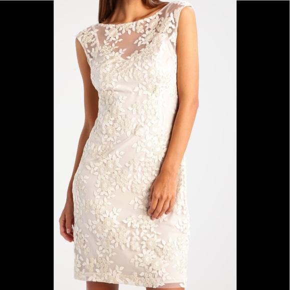 eaef2d84454c Dresses   Lauren Ralph Lauren Ivory Gold Metallic Dress   Poshmark